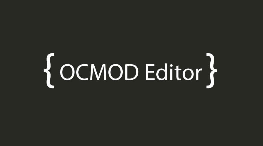 OCMOD Editor
