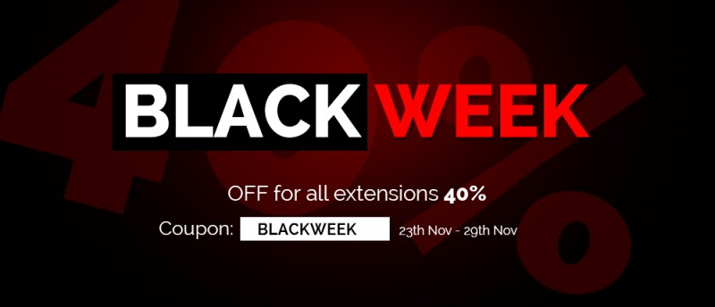Black Week 40% Sale